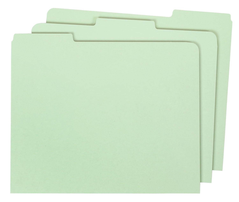 Globe-Weis Pressboard File Guides, Blank, 1/3 Cut Tabs, Letter Size, Light Green, 100 Per Set (9321P)