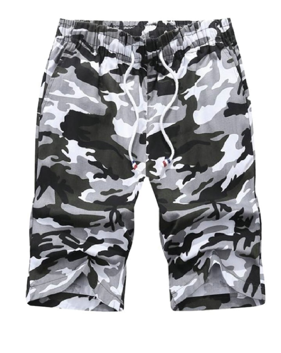 LEISHOP Mens Camouflage Printing Quick Dry Beach Board Shorts Trunks