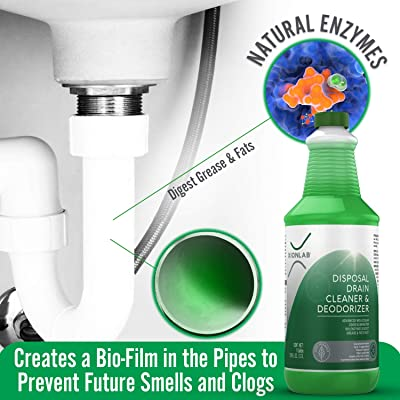 Buy Garbage Disposal Cleaner And Deodorizer Green Enzyme Drain Cleaner Attacks Odor Source With Advanced Bio Linking Technology Perfect For Kitchen Sink Shower Drain Bathroom Sink Utility Sink Online In Indonesia