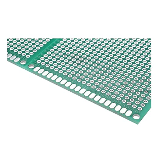 SODIAL 4pcs Double-Side Prototype FR-4 PCB Printed Circuit Board stripboard Universal 3 R 7cm Taille
