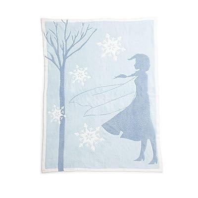 "Barefoot Dreams CozyChic Frozen Disney Blanket, Soft Blanket, Cozy Blanket- Ice Blue Multi-45""x60"": Home & Kitchen"