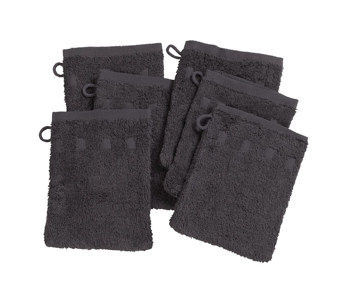 Set of 6 Charcoal Wash Mitts GetSet2Save COMIN18JU015602