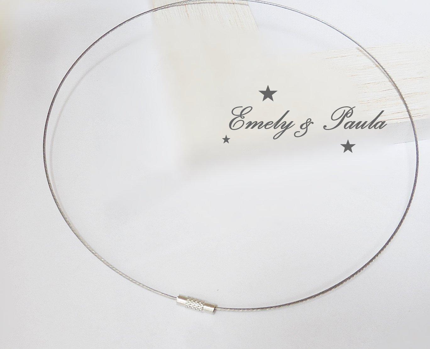 Halsreif Basic Stahldraht edel Schraubverschlus 45cm Kette Collier