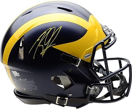 Rashan Gary Auto Michigan Wolverines Chrome Mini Helmet ~ Signed /& JSA Certified