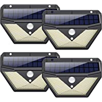 Luz Solar Exterior,【4Pack-136LED-2000mAh】Trswyop Foco Solar Exterior con Sensor de Movimiento Luces led con Gran Ángulo…