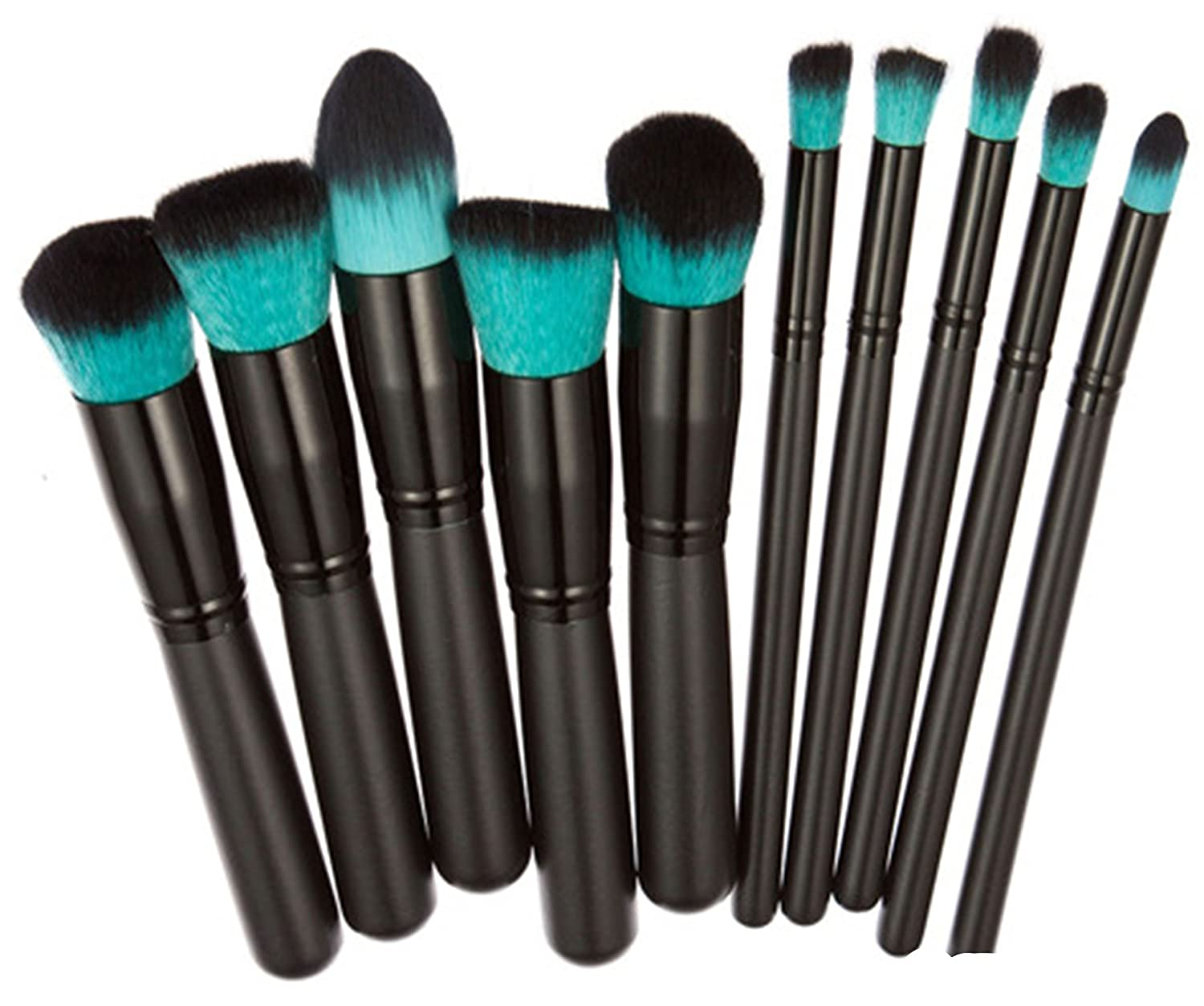 Amazon.com: Ruikey 10pcs Black Color Makeup Brushes Set For Girl Birthday Gift,Christmas Gift for Women Cosmetic Brush Kit: Beauty