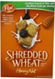 Post, Shredded Wheat, Honey Nut Cereal, Spoon Size, 20oz Box (Pack of 5)
