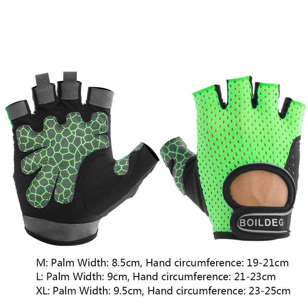 fish M/änner Frauen BOODUN Halbfinger Hohl einen.Kreislauf.durchmachenreiten Anti-Rutsch-Handschuhe Sto/ß Unisex Fitness-Fahrrad-Handschuhe kurz