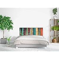 Cabecero Cama PVC Impresión Digital | Imitación Madera Antigua | Varias Medidas | Cabecero Original y