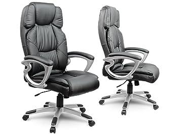 chaise fauteuil de bureau pivotant en cuir synthétique noi