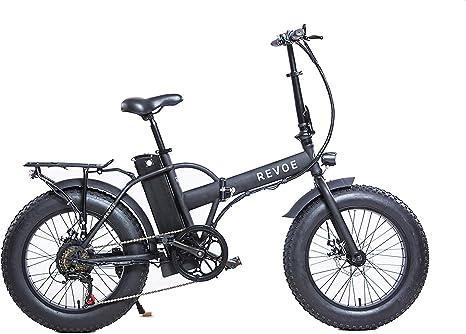 Revoe e-bike Dirt Vtc, Fat Bike Bicicleta Plegable, Negro, 20 ...