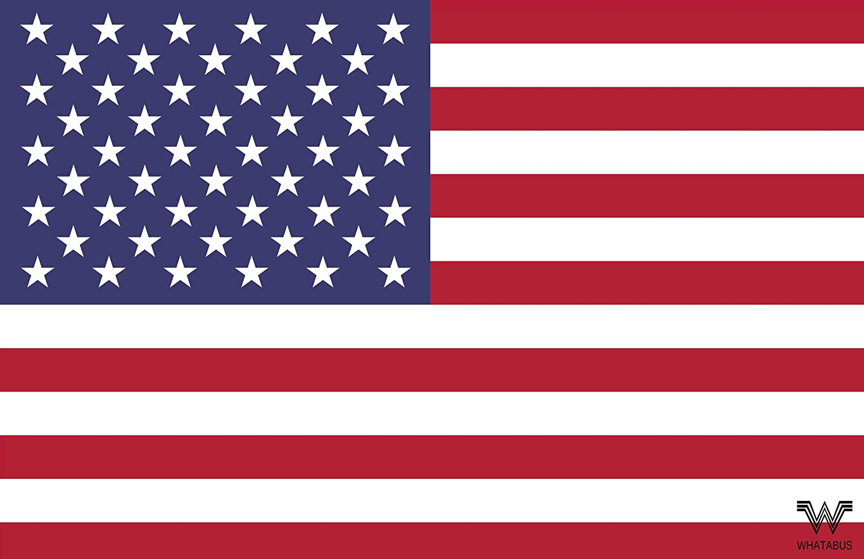 Whatabus Usa Vereinigte Staaten Von Amerika Flagge Aufkleber Länderflagge Als Sticker 8 5 X 5 5 Cm Auto