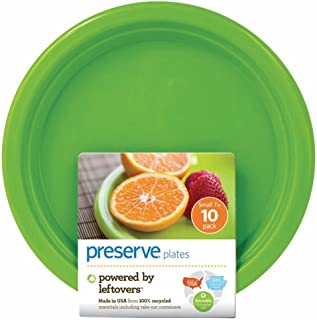 product image for Preserve Reusable Plates Apple Green - 7'' inches, 10 Dishes. Lightweight but sturdy and hundreds of uses, 100% recyclable
