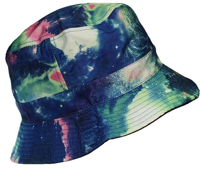 16330c02cedd97 E-Flag Original Adult Reversible Galaxy/Space Lightweight Cotton Bucket Hat  - Blue/
