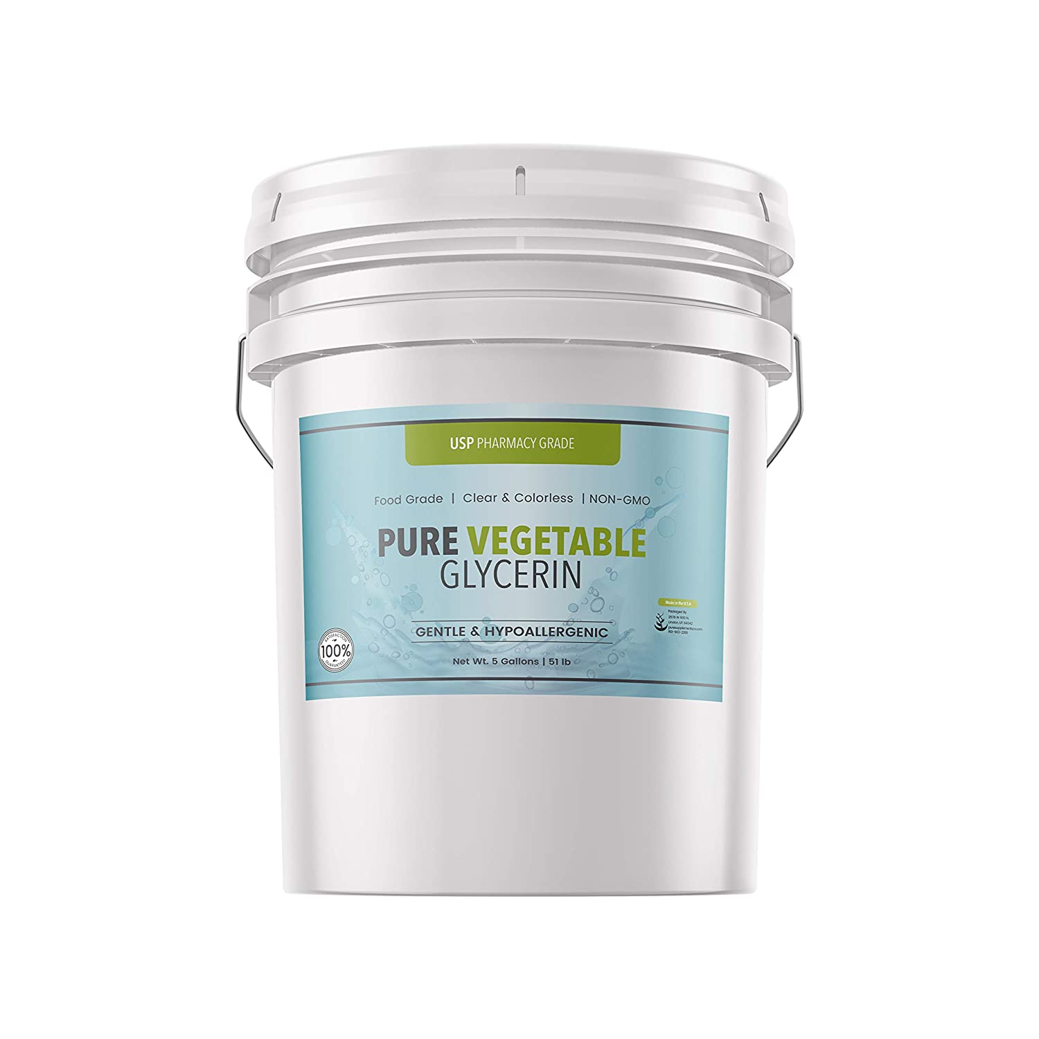 Vegetable Glycerin (5 Gallon) by Pure, Sustainably Sourced, Pure, Non-GMO, Vegan, Made in USA, Clear & Odorless, Food & USP Pharmaceutical Grade, Moisturizer & Skin Cleanser