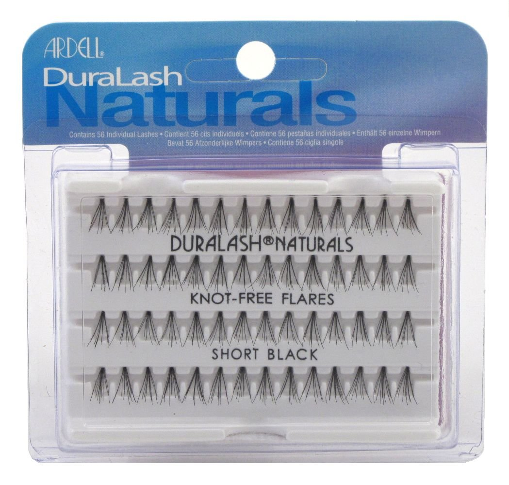 2f10322d7bc Amazon.com : Ardell Duralash Naturals Flare Short Black (56 Lashes) (Case  of 6) : Fake Eyelashes And Adhesives : Beauty