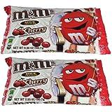 M&M's Valentine Candy Cherry Chocolate, 9.9 OZ (Pack of 2)