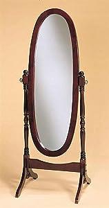 Legacy Decor Swivel Full Length Wood Cheval Floor Mirror, Cherry Finish New