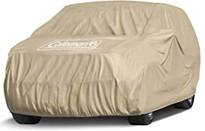 "Coleman Premium Executive SUV Cover - 7 Layer Indoor-Outdoor Cover Waterproof/Dustproof/Scratch Resistant/UV Protection for Vehicles up to 210"" Inches"