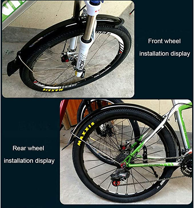 "FMFXTR 700C//20//26//27.5//29/"" MTB Mudguard Sets Bicycle Front /& Rear Wheel Fenders"