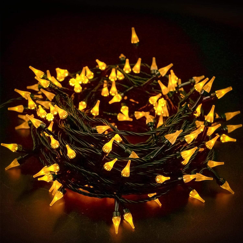 Twinkle Star white Outdoor Christmas Tree Lights 200 LED 66ft Mini Fairy String
