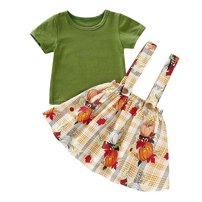 Amazon.com: Jchen - Conjunto de ropa de verano para niñas ...