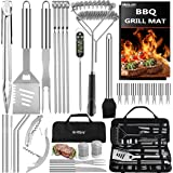 32PC BBQ Accessories Kit with Storage Bag - Stainless Steel Grill Set for Men - Complete BBQ Grill Utensils for Barbecue Backyard Party - Perfect Grill Gift on Birthday Mothers Day Fathers Day