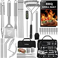 32PC BBQ Accessories Kit with Storage Bag - Stainless Steel Grill Set for Men -...