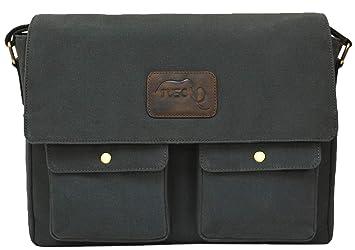 TUSC Atlas Impermeable Bolsa de Lona Premium para laptops de hasta 15.6 Pulgadas, Bolsos Bandolera de Hombres, Bolso de Hombro de Lona, Bolsas ...