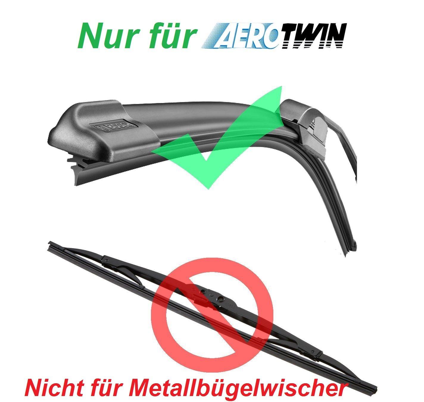 2 Gomas limpiaparabrisas de repuesto para por ejemplo Bosch Aerotwin a945s - 3397118945 Juego para limpiaparabrisas: Amazon.es: Coche y moto