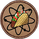 """Atomic Taco Patrol Patch - 2"""" Diameter Round Embroidered Patch (Sew-On)"""
