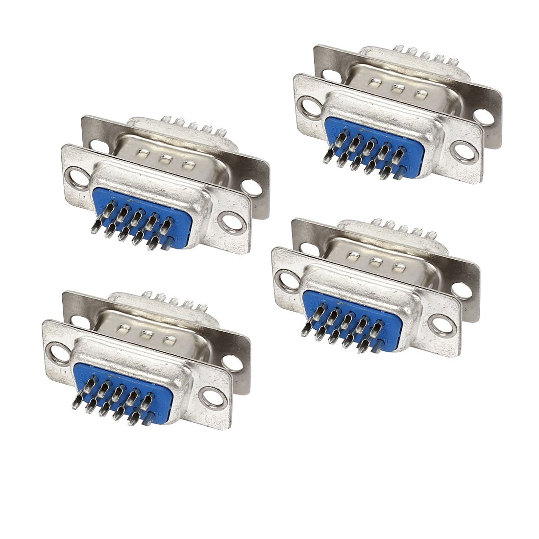uxcell DB15 15-Pin 3-Row Male to Female Connector VGA Cable Adapter 8Pcs a15011200ux0079