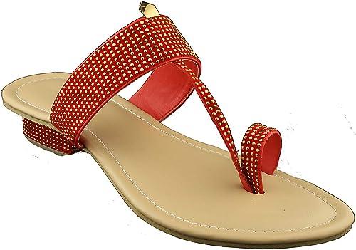 973e00f4046a Karat Gold Fancy Kolhapuri Chappal For Women With Heels For Women (4 ...
