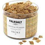 FALKSALT Smoked Sea Salt Flakes - Comparable to Maldon – Finishing Mediterranean Sea Salt Flakes for Meat, Poultry, Seafood,