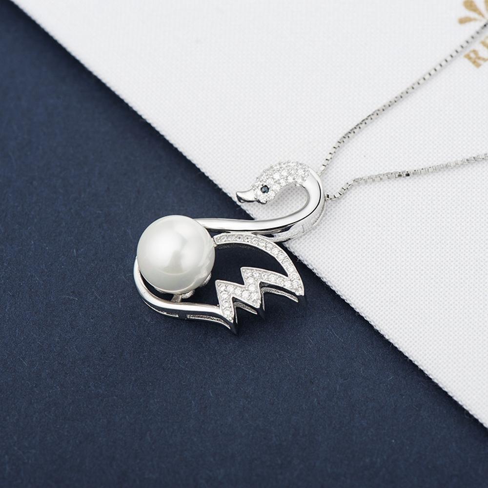 Axiba fantasía de joyería de Moda Plata de Ley 925 Collar Cisne Mosaico Perla Colgante El Regalo más Hermoso