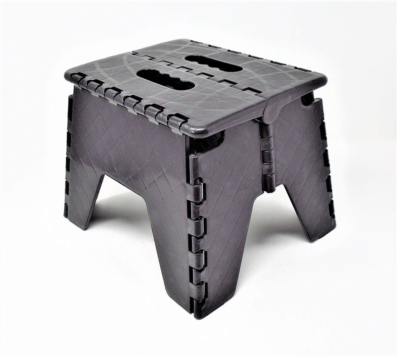 DWD - piccolo sgabello di plastica pieghevole, nero