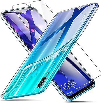 AROYI Funda + Protector de Pantalla para Huawei P Smart 2019 / Honor 10 Lite, Transparente TPU Silicona Carcasa, Anti-Choques/Arañazos Flexible Case Cover para Huawei P Smart 2019 / Honor 10 Lite: Amazon.es: Electrónica