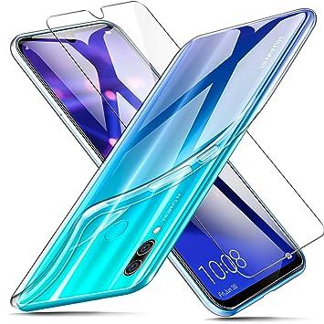AROYI Funda + Protector de Pantalla para Huawei P Smart 2019 / Honor 10 Lite, Transparente TPU Silicona Carcasa, Anti-Choques/Arañazos Flexible Case ...