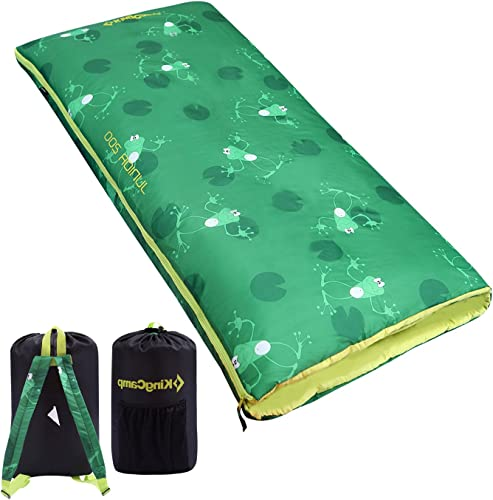 KingCamp Lightweight Children Sleeping Bag for Girls, Boys, Youth Teens, Soft and Comfortable Enough for Camping, Backpacking, Indoor and Outdoor-Fits Youth up to 4 6