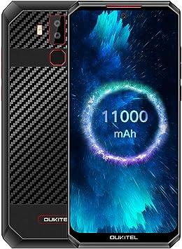 Batería Grande 11000mAh Móviles, OUKITEL K13 Pro Smartphone Libre Dual SIM 4G, Carga Rápida 30W, Pantalla de 6.41, 4GB RAM, 64GB ROM, Teléfono Android 9.0, Cámara 16MP 8MP, NFC, OTG, Tipo-C, Negro: