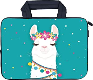 "AMARY 11.6"" 12"" 12.1"" 12.5 inch Laptop Handle Bag Neoprene Notebook Carrying Pouch Chromebook Sleeve Ultrabook Case Tablet Cover Fit Apple MacBook Air HP DELL Lenovo Asus Samsung (Alpaca)"
