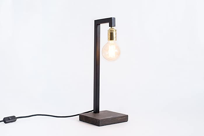 Lampada di ferro lampada di edison lampada di legno lampada da