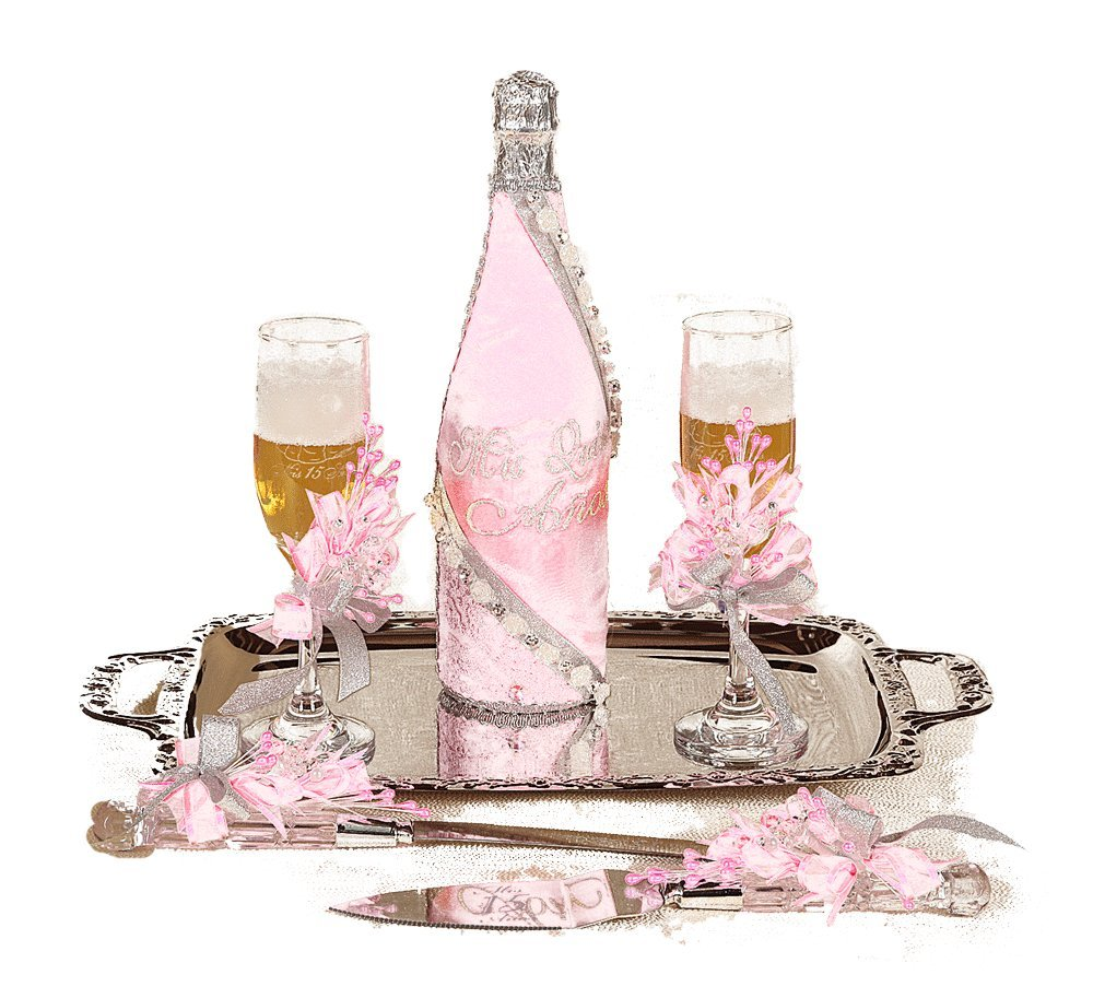 SB096 Quinceañera Brindis. Cake knife and server included. (Blush)