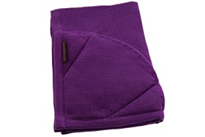 Rachael Ray Kitchen Towel and Oven Glove Moppine – A 2-in-1 Ultra Absorbent Kitchen Towel with Heat Resistant Pot-Holder Padded Pockets to Handle Hot Cookware and Bakeware - Lavender/Pack of 1