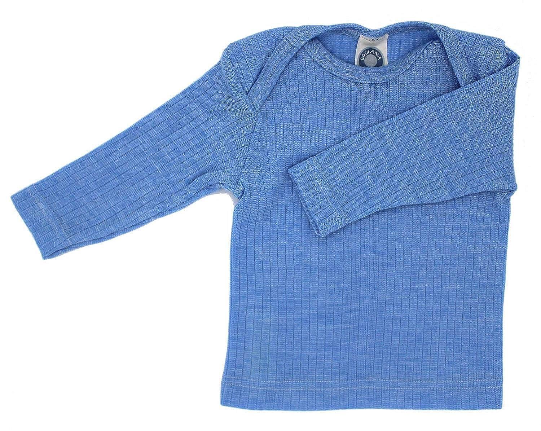 20/% Silk 35/% Organic Wool 98//104, Blau Meliert Cosilana Baby Baby Longsleeve 45/% Organic Cotton
