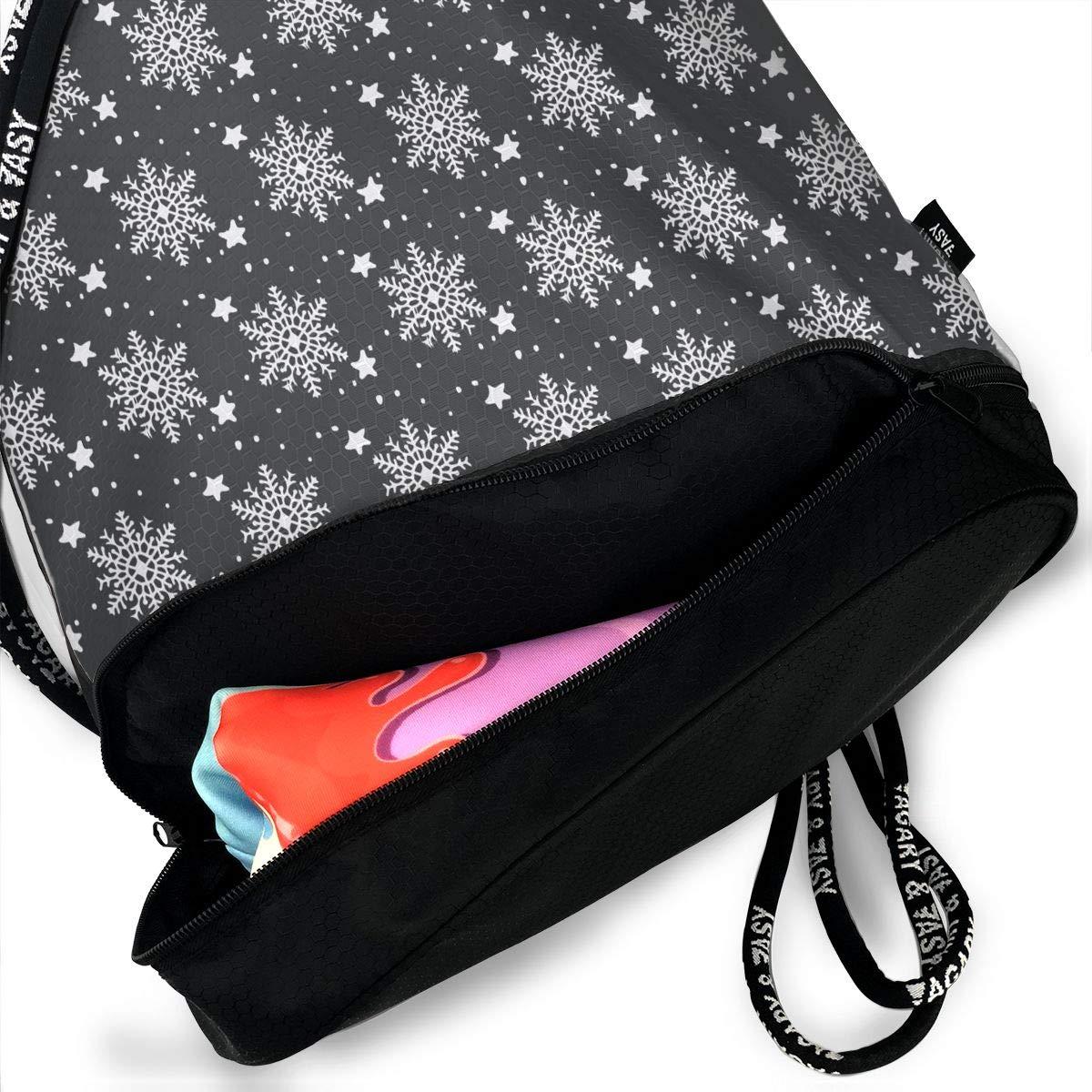 HUOPR5Q Merry Christmas Drawstring Backpack Sport Gym Sack Shoulder Bulk Bag Dance Bag for School Travel