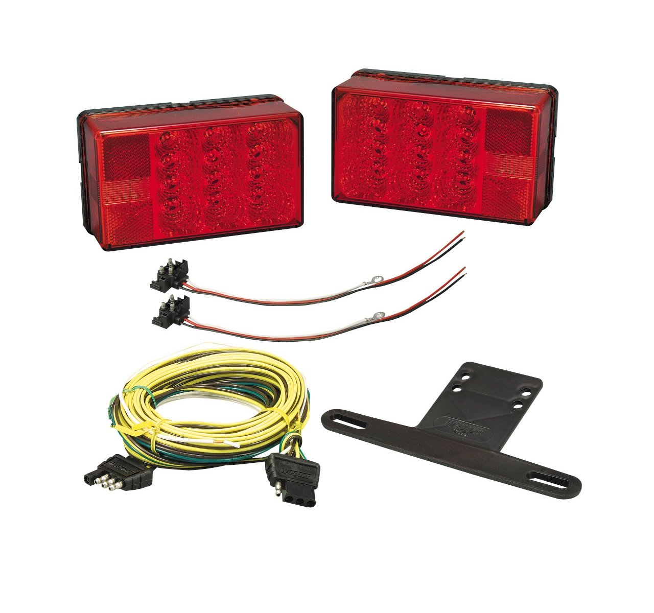 Bargman 31 407560 Trailer Light Kit Waterproof 4x6 Low Wiring Harness Profile Led With Vehicle Harnesses Automotive