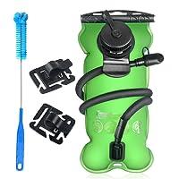 Tagvo Trinkblase 3L mit Reinigungsbürste Wasserblase für Sport Wandern Fahrradfahren Trinkbeutel BPA Frei Grün