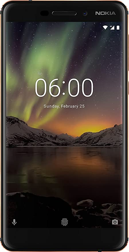 """Nokia 6.1 Smartphone da 5.5"""" IPS full-HD, 3 GB RAM, 32 GB ROM, Dual SIM, Camera da 16MP, Nero/Copper [Italia]"""