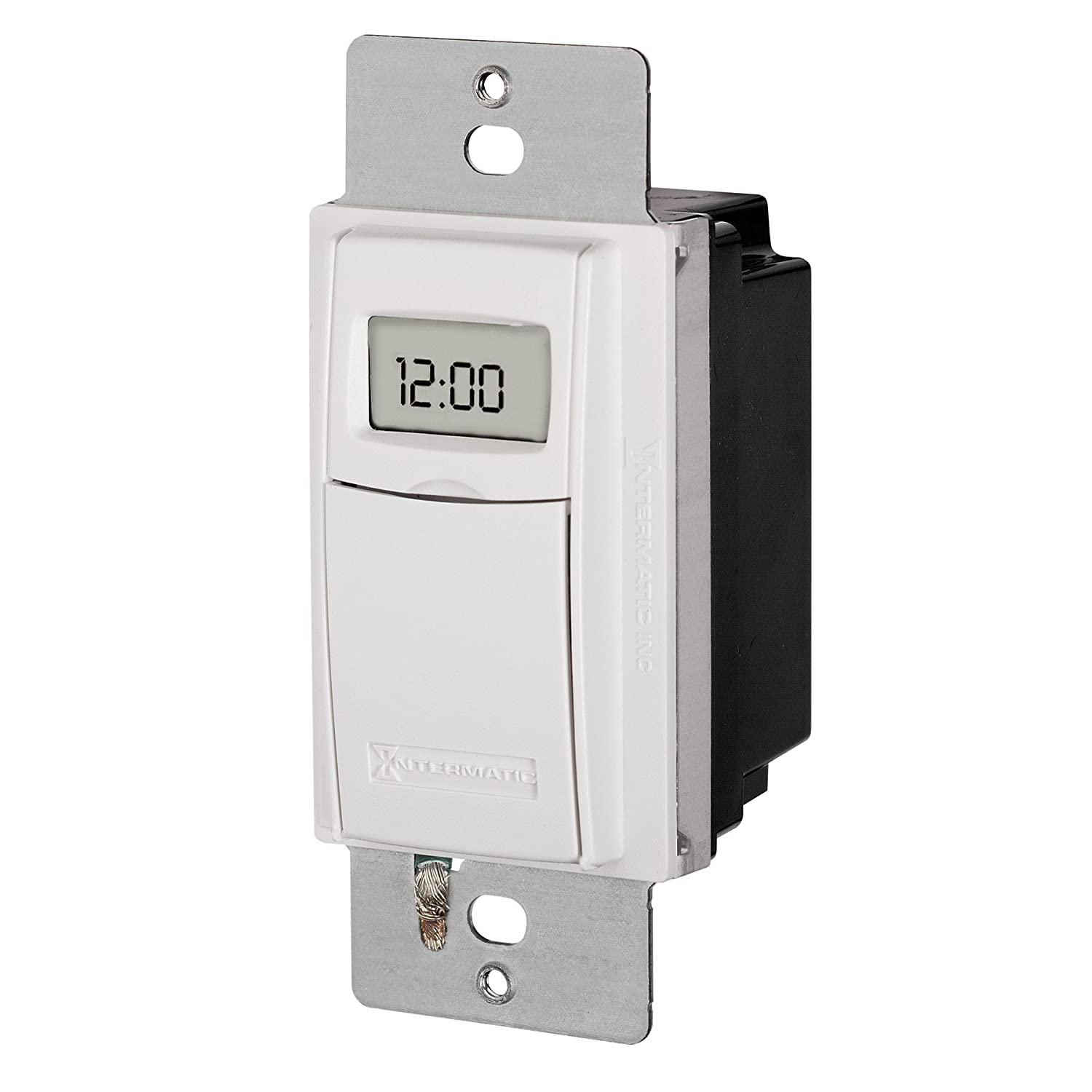 Intermatic ST01 7 Day Programmable In Wall Digital Timer Switch for Lights and Appliances, Astronomic, Self Adjusting, Heavy Duty